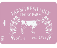 "Трафарет Р 818""Farm fresh milk"""